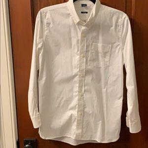 EUC Gap Kids white cotton long sleeve button down
